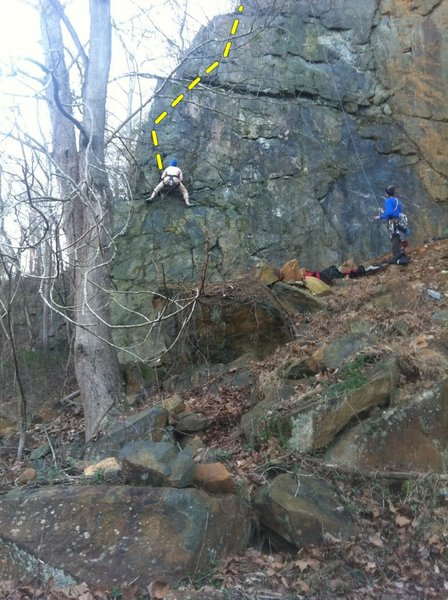 Rock Climbing Photo: Gunpowder's (not-so) Gold