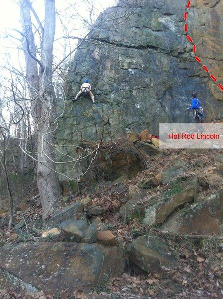 Rock Climbing Photo: Corner Crack-Hot Rod Lincoln