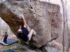 Rock Climbing Photo: The crux of Levitation.