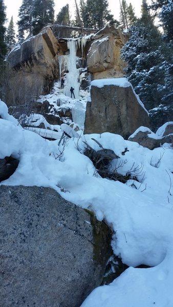 Rock Climbing Photo: Hidden Falls, 11/16/14.