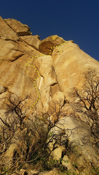 Rock Climbing Photo: The original route with traverse on pitch 2