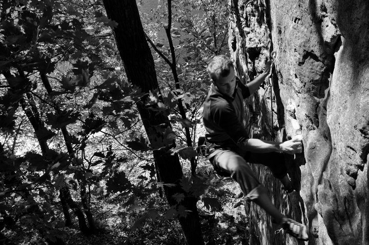 Rock Climbing Photo: Upper holds on Pat-agonia