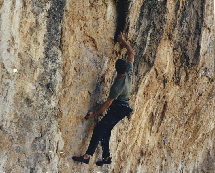 Rock Climbing Photo: tmac on under where? 5.12