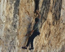 Rock Climbing Photo: tmac on under where? 5.12