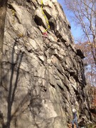 Rock Climbing Photo: Can anyone help with what route this is? I travers...