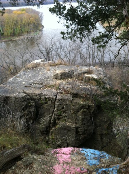 Chasm between main rock and tower of Indian Head