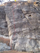 Rock Climbing Photo: Rites of Passage topo