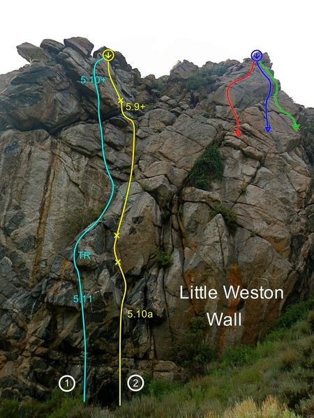 Rock Climbing Photo: South face of Little Weston Wall.