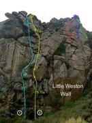 Rock Climbing Photo: South face of Little Weston Wall.