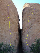 Rock Climbing Photo: The V Wall, split by Corvus Crack. photo and graph...