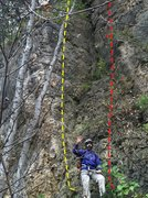 Rock Climbing Photo: T.L.C. (5.7) Yellow Diabolical Dihedral (5.6) Red