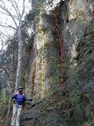 Rock Climbing Photo: Buzz Off (5.8) Yellow Shady Lane (5.5) Red