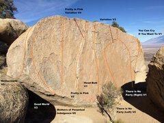 Rock Climbing Photo: Hall of the Mountain Queens Topo