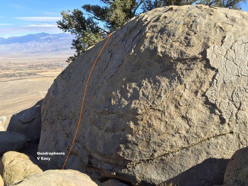 Rock Climbing Photo: Morning Glory West Slab Topo