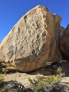 Rock Climbing Photo: What's The Story East Face Topo