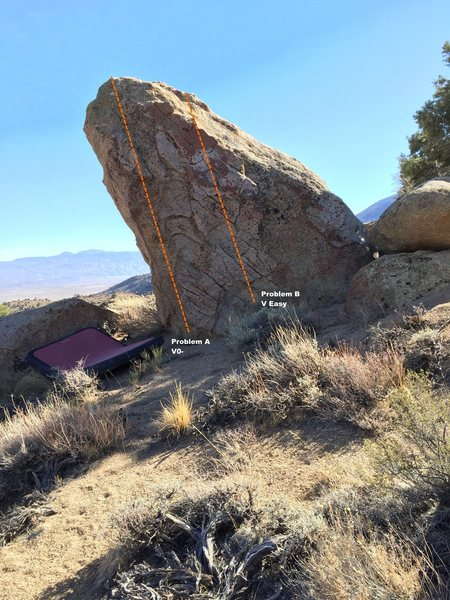 Rock Climbing Photo: Leaning Tower Boulder Topo