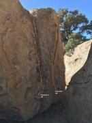 Rock Climbing Photo: Eyes West face topo