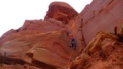 Rock Climbing Photo: Clean climbing in corner w/ offwidth crux.