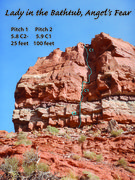 Rock Climbing Photo: Pitch 1 & 2.