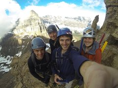 Rock Climbing Photo: Attempt at Mt. Temple in Banff. A bit too icy for ...