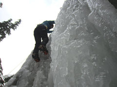 Ice climbing in Ouray, CO.