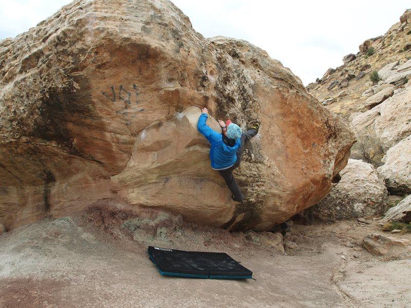 Rock Climbing Photo: Joe 97 (right)