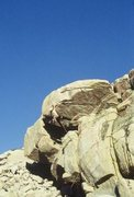 """Rock Climbing Photo: Pulling over the roof on """"Triple Ripple""""..."""