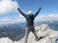 Rock Climbing Photo: Feeling good atop Mt Rundle Banff, Canada, August ...
