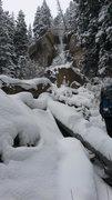 Rock Climbing Photo: Hidden Falls 11/14.  Bottom was just touching the ...