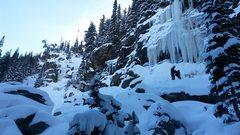 Rock Climbing Photo: Approaching Crystal Meth 11/16.