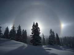 Rock Climbing Photo: Red Mountain Pass sun dog 11-16-2014