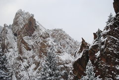 Rock Climbing Photo: Eldo after a November snowstorm.