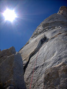 Rock Climbing Photo: the flake to start the headwall section of the cli...