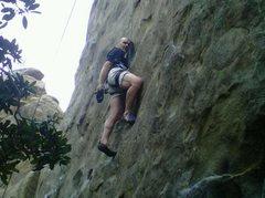 Rock Climbing Photo: Chad Parker top roping Amadeus on Motzarts Wall at...