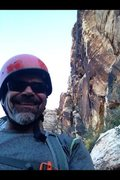 Rock Climbing Photo: Chad Parker at the top of Tunnel Vision in the Red...