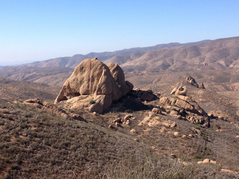 View from the short hike in Texas Canyon, CA photo by Chad Parker