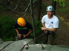 Instructing a PCIA Single Pitch Climbing Instructor Course.