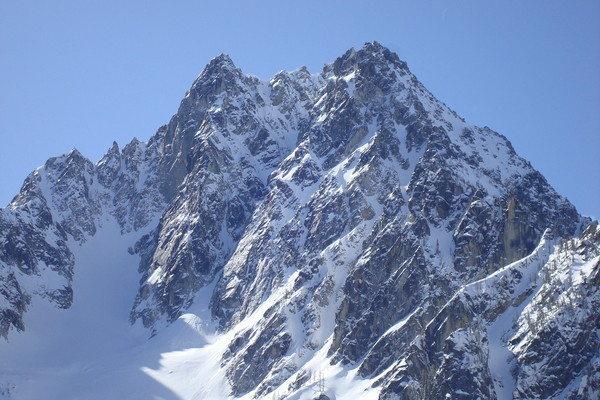 Rock Climbing Photo: Colchuck Peak in winter conditions.