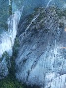 Rock Climbing Photo: Groover Variation 5.9, 1,320', 9 pitches ( see top...