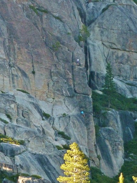 Rock Climbing Photo: Myself belaying Larkin up the corner