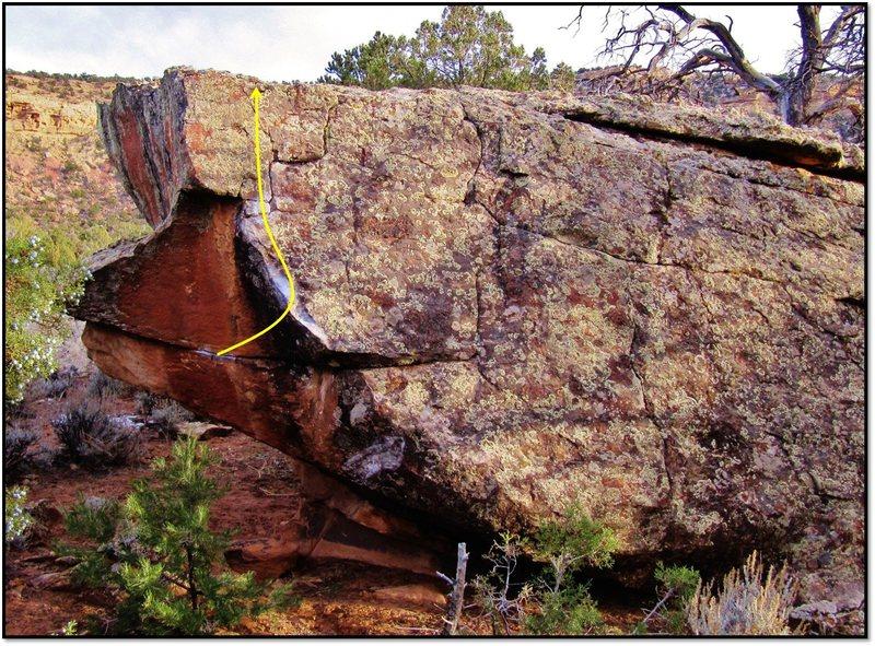 Rock Climbing Photo: Earth Kiln problem beta.