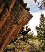 Rock Climbing Photo: Dynoing to the first edge on Corpus Dakota. This i...
