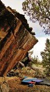 Rock Climbing Photo: Start beta of Corpus Dakota.