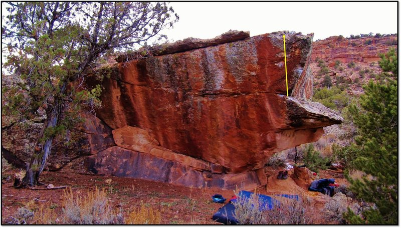 Rock Climbing Photo: Corpus Dakota problem beta.