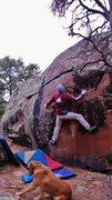 Rock Climbing Photo: Start beta of The Opsimath.