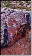 Rock Climbing Photo: The Opsimath problem beta.