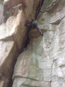 Rock Climbing Photo: Boris stemming through the 10+ off-width section o...