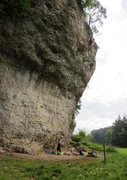 Rock Climbing Photo: Enjoying the mellow-but-runout finish of Kramphamm...