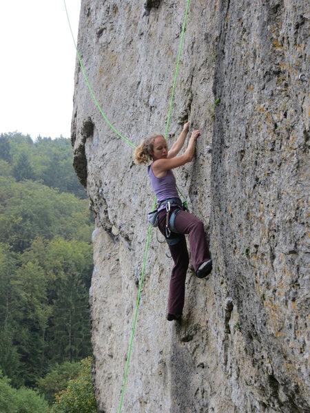 Kate climbing DNMDK.