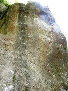 Rock Climbing Photo: Follow the red train tracks.